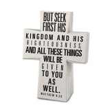 Seek First His kingdom Desktop Cross