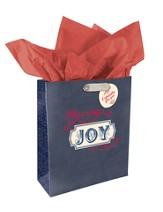 Joy, Retro Gift Bag, Medium