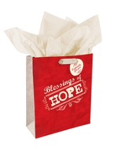 Hope, Retro Gift Bag, Medium