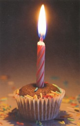 Cupcake Birthday (Romans 15:13) Postcards, 25
