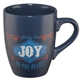 Joy, Retro Mug, Blue