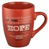 Hope, Retro Mug, Red