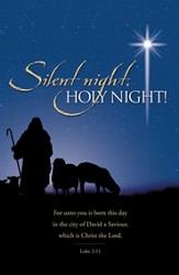 Silent Night, Holy Night (Luke 2:11) Bulletins, 100