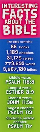 Bible Facts Bookmarks, 25