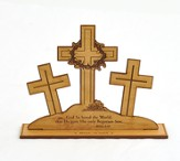Three Crosses John 3:16 Plaque