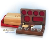 4-Cup Cherry Wood Communion Set