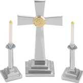 Silvertone Altar Set, Contemporary