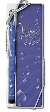 Worship the Lord Pen and Bookmark Gift Set