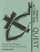 The Explorers Bible Study Quest, Faith at Work Answer Key