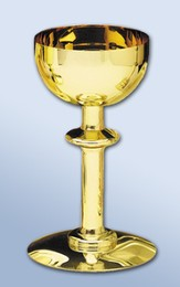 Round Base Solid Brass Chalice