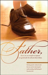 Father's Shoes (Proverbs 19:8) Bulletins, 100