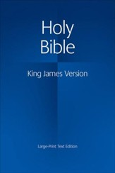 KJV Large Print Text Bible, Hardcover