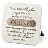 Journey Plaque with Bronze Title Bar