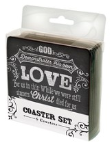 Love, Promises, My Cup, Chalkboard Coaster Set