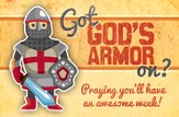 God's Armor (Ephesians 6:13, NIV) Postcards, 25