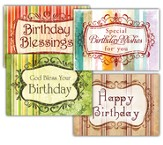 Birthday Greetings, Box of 12 Assorted Birthday Cards