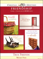 True Friends, Box of 12 Assorted Friendship Cards