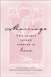 Two Hearts Joined Forever - Marriage Bulletins/100 (Matthew 19:6, NIV)