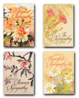 Petals of Comfort, Box of 12 Assorted Sympathy Cards