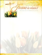 Jesus is Risen (Job 19:25) Letterhead, 100