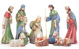 Porcelain Nativity, 9 pieces