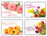 Birthday Blooms, Box of 12 Assorted Birthday Cards