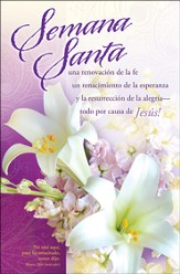 Boletines Semana Santa, Paquete de 100  (Easter Bulletins, Pack of 100)