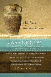 Jars of Clay, (2 Corinthians 4:7-9, NIV) Bulletins, 100