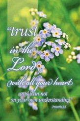 Trust in the Lord, (Proverbs 3:5, KJV), Bulletins, 100