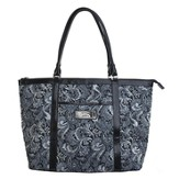 Trust, Paisley Tote Bag, Black and White