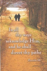 Acknowledge Him, Walking on Path (Proverbs 3:6, KJV) Bulletins,100