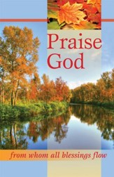 Praise God, Autumn Scene, Bulletins, 100