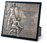 David and Goliath Sculpture Plaque