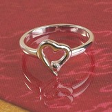 No Greater Love, Nail Heart Ring, Size 8