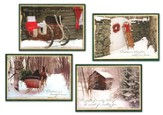 An Old Fashioned Christmas, Box of 12 Assorted Christmas Cards - Slightly Imperfect