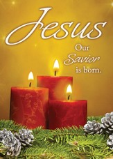 Jesus Our Savior Is Born (2 Corinthians 9:15) Box of 12 Christmas Cards