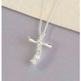First Communion, Journey Cross Necklace
