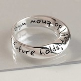 Who Holds the Future Mobius Halo Ring, Size 7