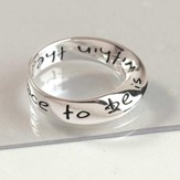 The Safest Place to be is within the will of God Mobius Halo Ring, Size 7
