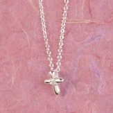 First Communion Blessings, Petal Cross Necklace, Small