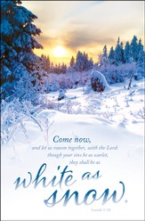 White as Snow (Isaiah 1:18) Bulletins, 100