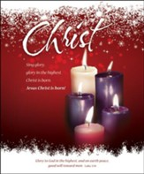 Christ (Luke 2:14) Large Advent/Christmas Bulletins, 100