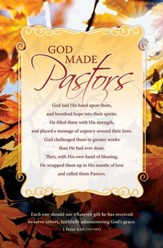 God Made Pastors (1 Peter 4:10, NIV) Bulletins, 100