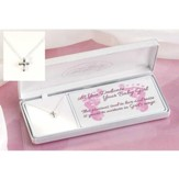 Baby Dedication Petal Cross Necklace