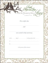 Marriage Certificates (1 Corinthians 13:13, NIV) 6