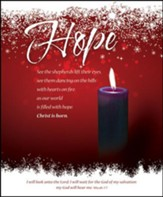 Hope (Micah 7:7) Large Advent Bulletins, 100