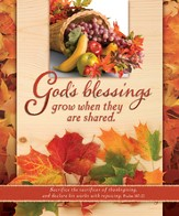 God's Blessings (Psalm 107:22) Large Bulletins, 100