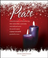 Peace (Micah 5:5) Large Advent Bulletins, 100
