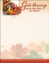 God's Blessings (Psalm 107.22) Letterhead, 100