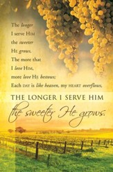 Longer I Serve Him (Gaither) Bulletins, 100